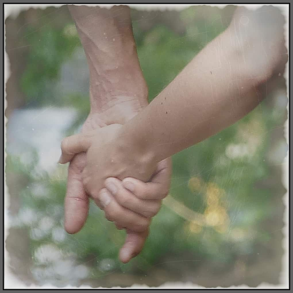 Holding hands - knowing you are not alone counts.