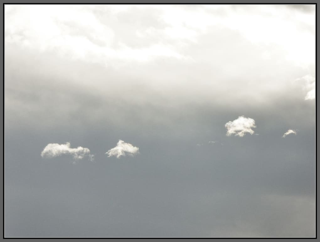 Clouds against clouds
