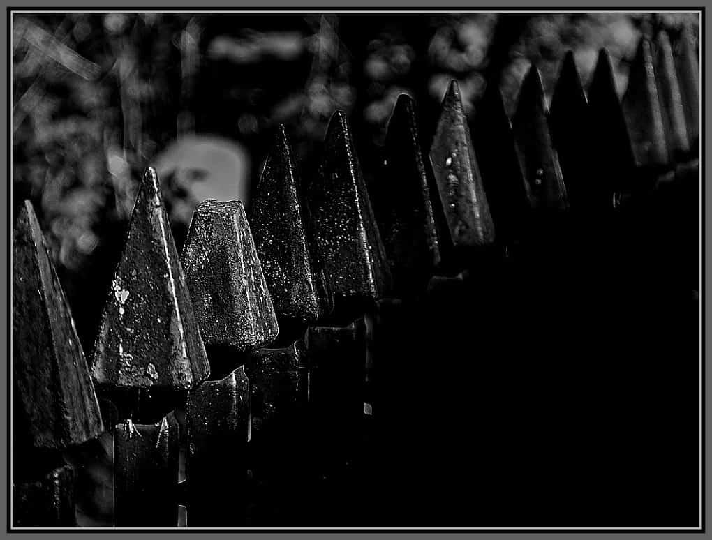 Broken railings - broken but still tough