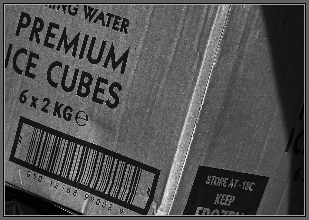 """Photo - box of """"Premium Ice Cubes"""""""