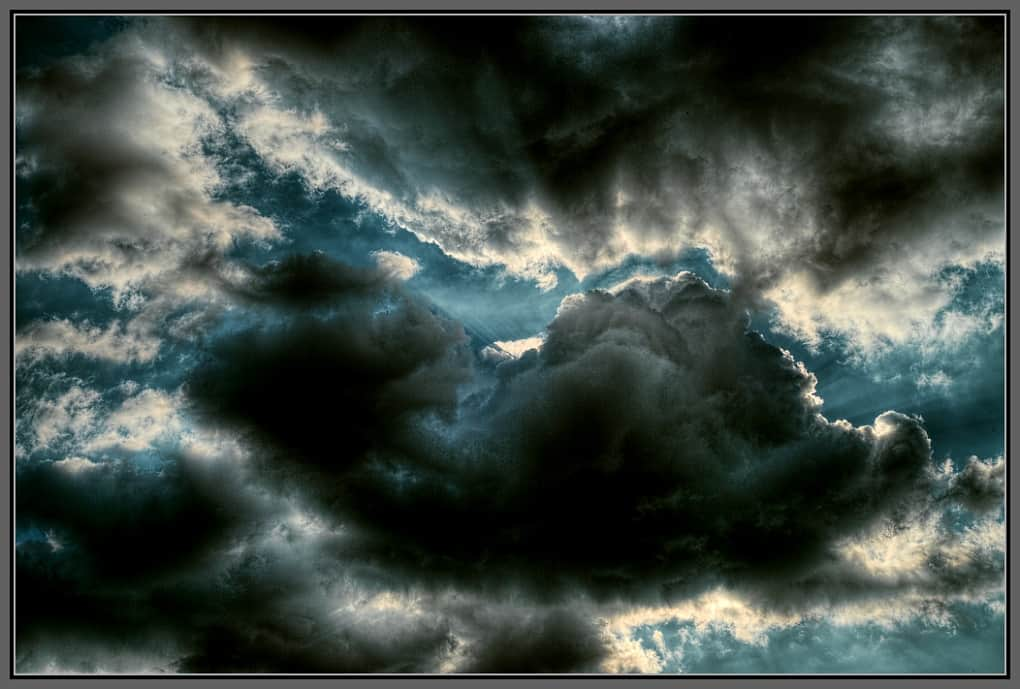 A dramatic cloud-scape