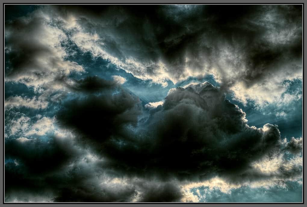 A dramatic cloud-scape