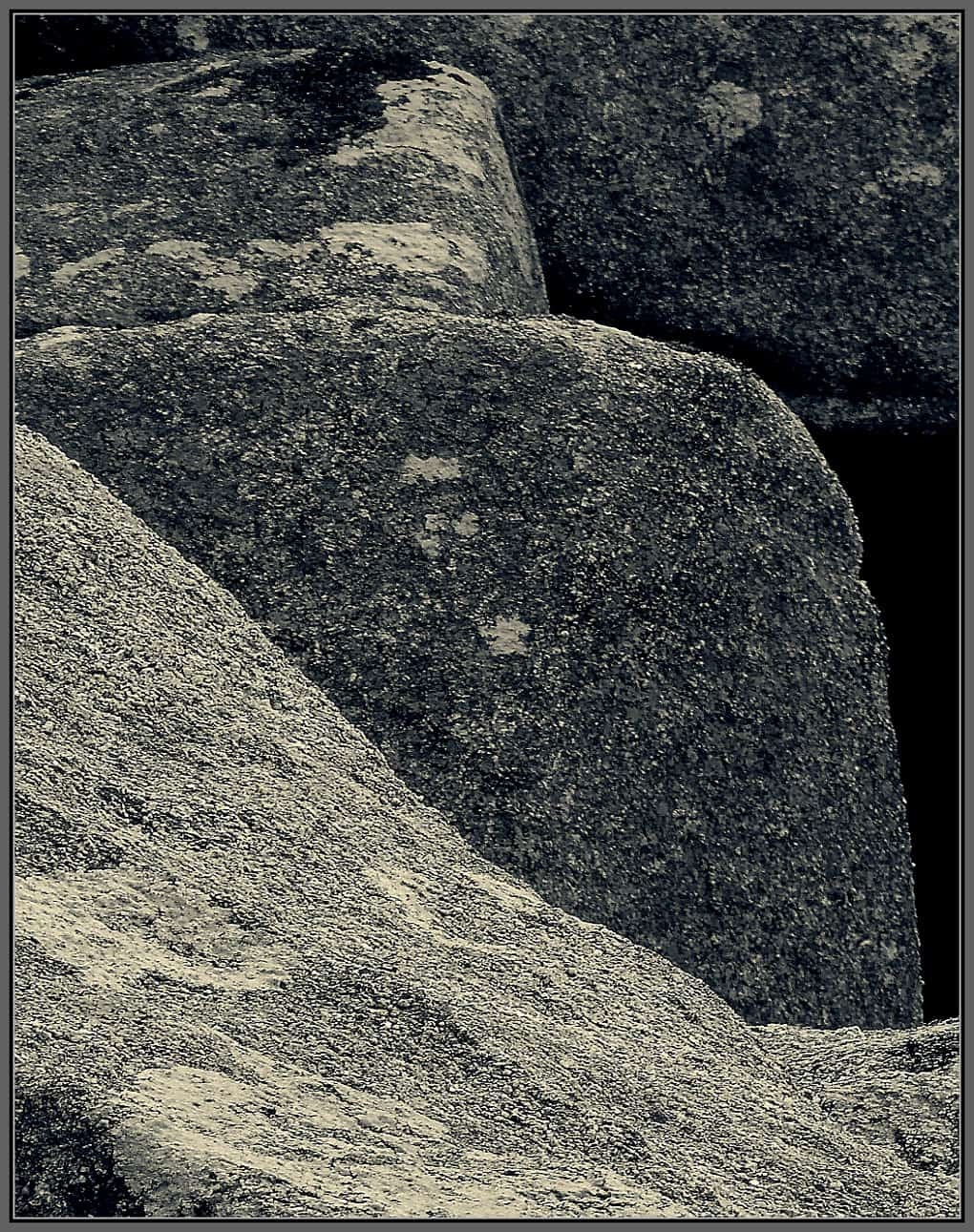 Large granite rocks.