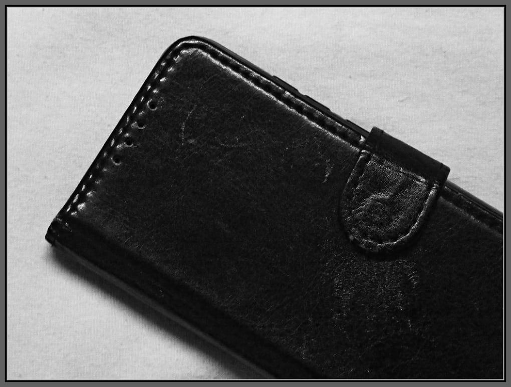 A closed smartphone cover
