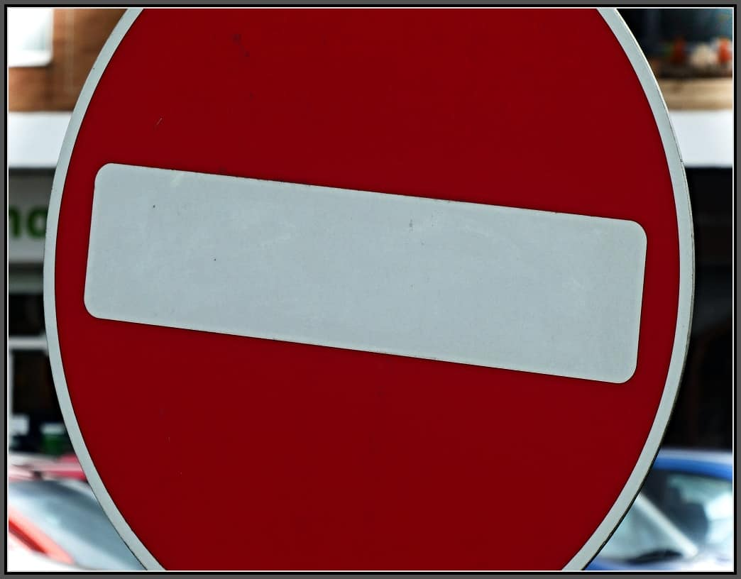 A UK no entry sign